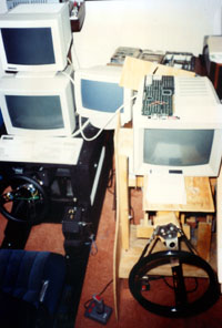 Two early prototypes linked together (1988)