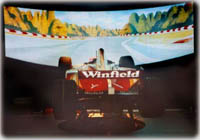 Winfield F1 car with 6-DOF motion