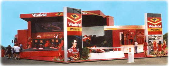 Winfield F1 simulator at Silverstone